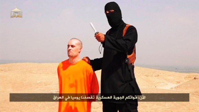 The Islamic State video, which has since been taken down, apparently showed a British jihadist executing James Foley (Picture: Reuters)
