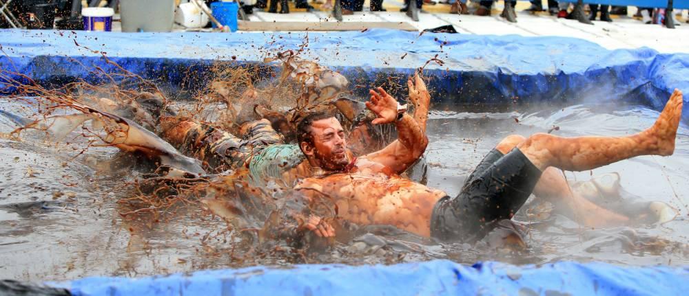 Nothing tastier than a spot of World Gravy Wrestling Championships 2014