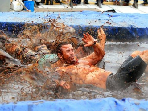 Nothing tastier than a spot of World Gravy Wrestling Championships 2014