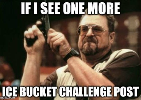Had enough of ALS ice bucket challenge videos? You'll love these ice bucket challenge memes