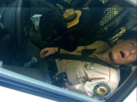 Passed out park ranger photographed in car with an open beer between his legs