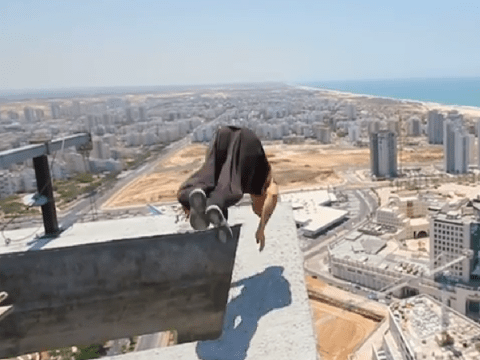 This near fatal skyline backflip fail will give you seriously sweaty palms