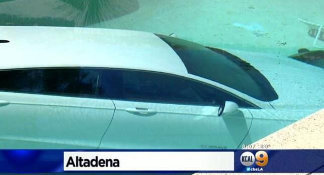 Car submerged