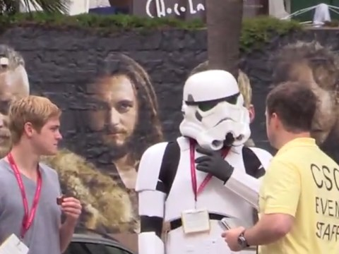 Watch thoroughly confused cosplay fans pranked by 'costume permit' official at Comic-Con