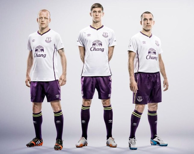 673bbf12ba01e Everton have revealed their new third kit for 2014-15 (Picture  Everton FC