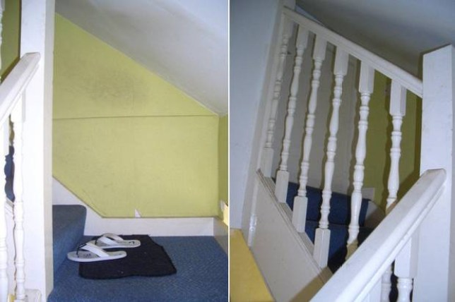 Tenants had to crawl to get through the 1.2m high 'door'