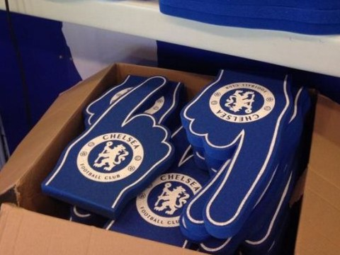 Chelsea try and boost Stamford Bridge atmosphere by giving out foam fingers