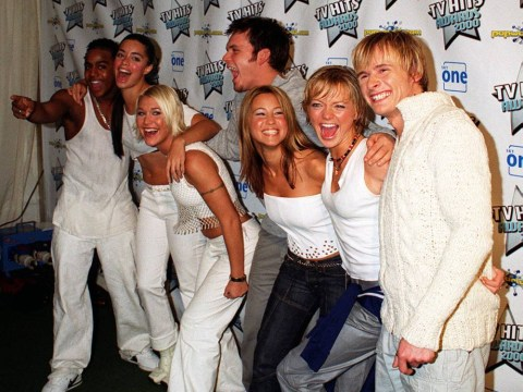 S Club 7 reunion: Bradley, Tina, Jo, Paul, Rachel, Hannah and Jon – THEN AND NOW