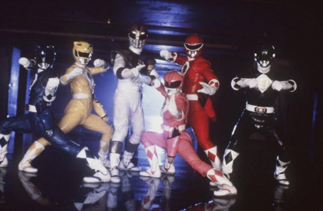 The cast of the film Mighty Morphin Power Rangers (1995)Sunday 16th December 2001, 5.10pm....(From L-R) DAVID YOST as Billy, KARAN ASHLEY as Aisha, JASON DAVID FRANK as Tommy, AMY JO JOHNSON as Kimberly, STEVE CARDENAS as Rocky, and JOHNNY YONG BOSCH as Adam.  Copyright: Channel 5 Broacasting. Contact Channel 5 Stills: 0171 550 5583/5509/5544. Free for editorial press and listings use in connection with the current broadcast of Channel 5 programmes only. This image may only be reproduced with the prior written consent of Channel 5. All right reserved. Not for any form of advertising, internet use or in connection with the sale of any product....Sunday 31 October