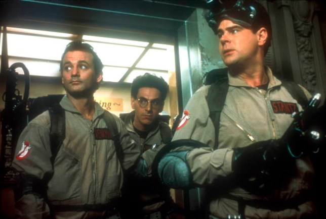Film : Ghostbusters (1984)... Starring: Dr Egon Spengler (Harold Ramis)Dr Raymond Stantz (Dan Aykroyd) and Dr Peter Venkman (Bill Murray).. © Columbia Pictures
