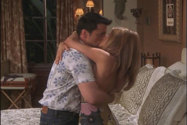 Joey and Rachel Kiss in Friends