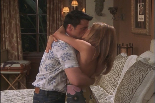 Joey and Rachel Kiss in Friends