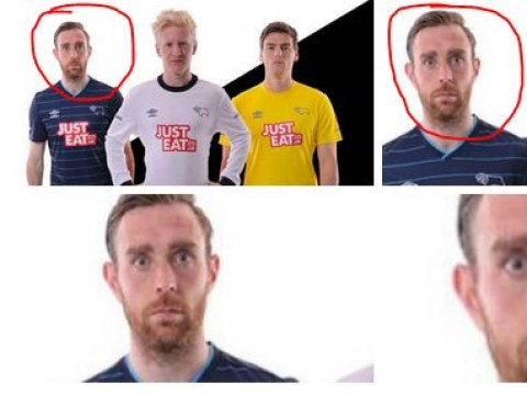 Derby County defender Richard Keogh is definitely the worst kit model of all time