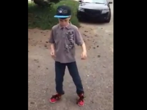 Watch this nine-year-old poppin' and lockin' with the best of them