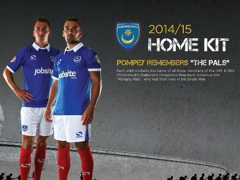 Portsmouth use new home kit to pay touching First World War tribute