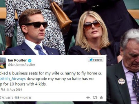 Twitter ridicules golfer Ian Poulter for his ranting about his nanny getting downgraded from business class on plane