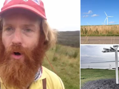 Adventurer who swam and ran length of Britain abandons 900-mile run – after twisting his ankle taking a selfie
