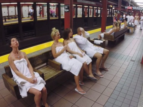 New York's subway feels like a sauna at the moment, so some pranksters turned it into one