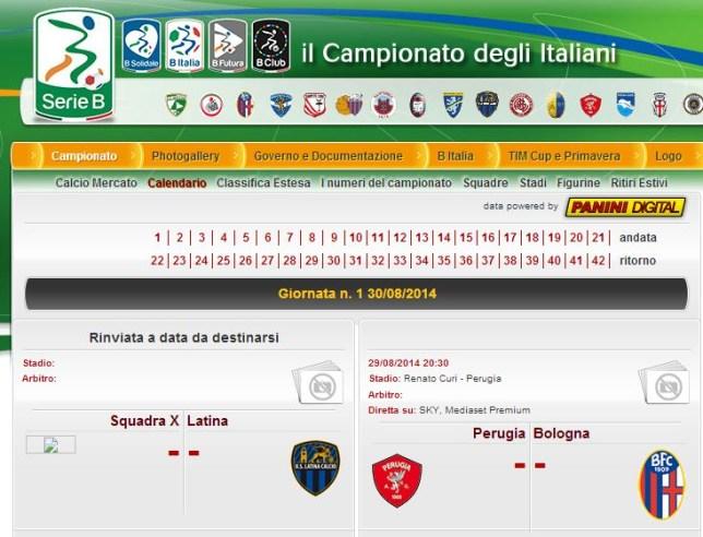 Calendario Serie B 18 19.Mysterious Team X Appear On Serie B Fixture List After