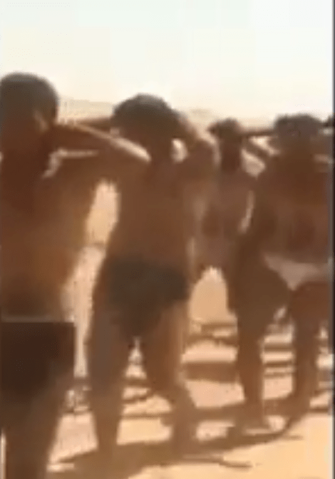 Horrifying footage shows 250 Syrian soldiers marched to their deaths as IS continue to use social media to spread their message of hate