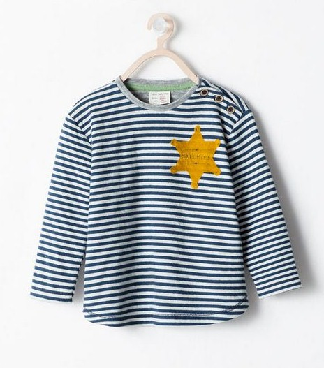 Zara says sorry for selling children's T-shirt that looks like Jewish 'Star of David' uniform