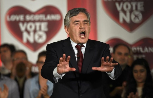 Gordon Brown called on voters to have the confidence to vote No on Thursday (Picture: Dylan Martinez/Reuters)