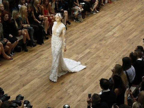 Julien Macdonald unveils £4million diamond wedding dress at London Fashion Week