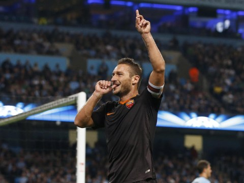 Francesco Totti trolls Manchester City after becoming oldest Champions League scorer with Roma goal