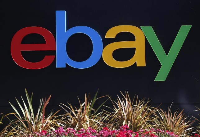 ebay logo at the company's offices