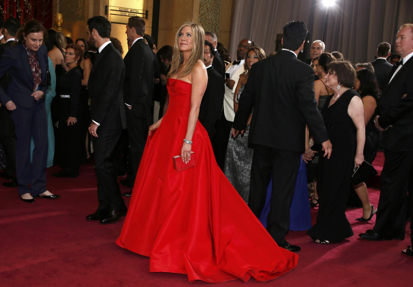 Seeing red for your big day? Take your red wedding dress inspiration from Jennifer Aniston and co