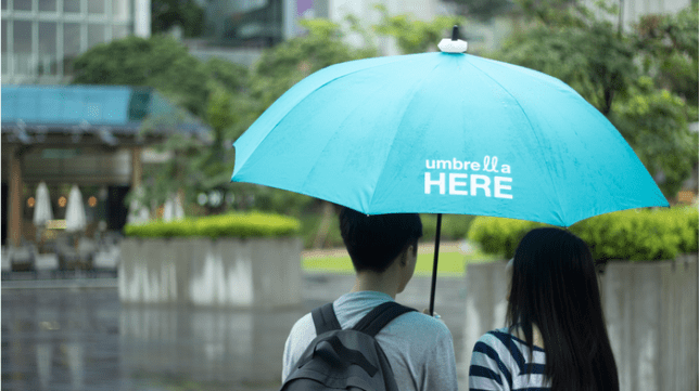 New Umbrella Here app on Kickstarter offers to let you share