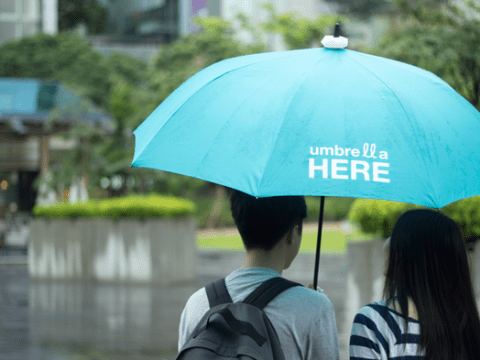 Would you invite a stranger under your umbrella? This app will let you do just that