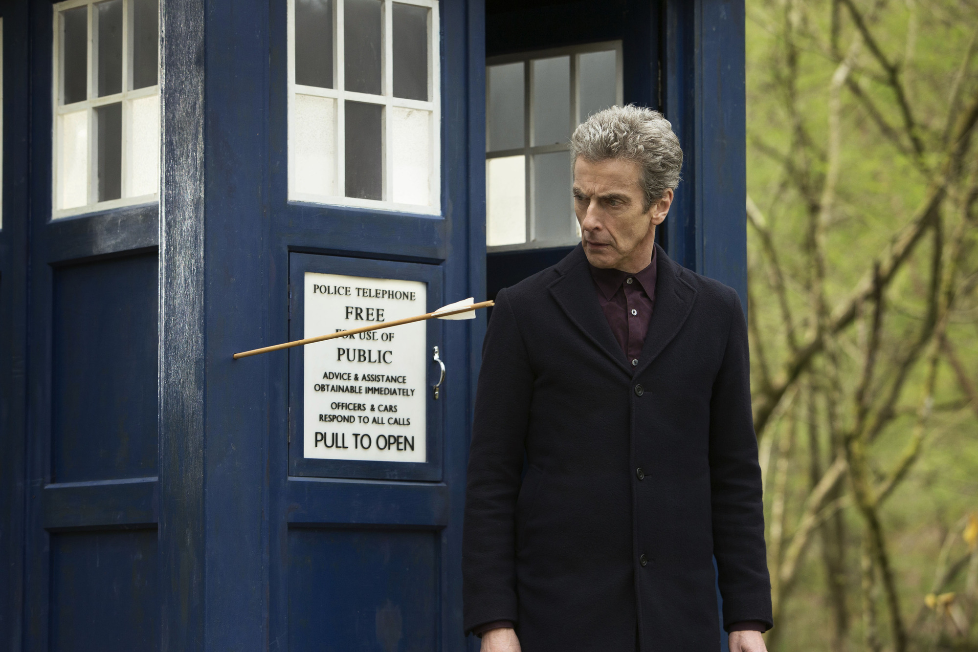 The Doctor (Peter Capaldi) in Doctor Who's Robot of Sherwood