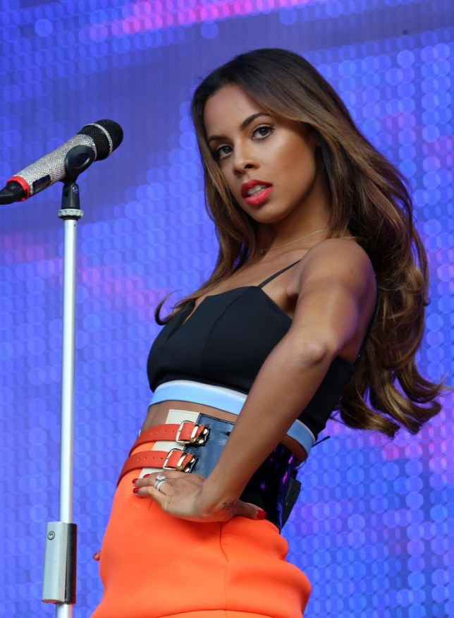 Rochelle Humes of The Saturdays performs during The North East Live Event at the Stadium of Light on June 22, 2014 in Sunderland, England. Ian Horrocks/Getty Images