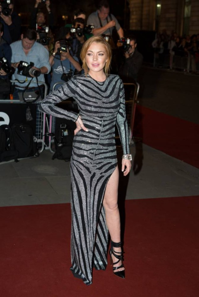 Lindsay Lohan arrives at the GQ Men of the Year Awards at the Royal Opera House, London. PRESS ASSOCIATION Photo. Picture date: Tuesday September 2, 2014. Photo credit should read: Daniel Leal-Olivas/PA Wire