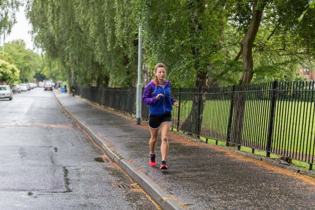 Superfit Amy Hughes, 26, who has smashed the women's world record for running most marathons in consecutive days by running 35 marathons in 35 consecutive days across 35 different cities. The previous female record stood at 17 marathons but Amy plans to beat the men's record of 52 as well - by running 53 marathons in 53 days. Sports therapist Amy is sticking with the number 53 by hoping to raise £53,000 for a children's cancer charity. © WALES NEWS SERVICE