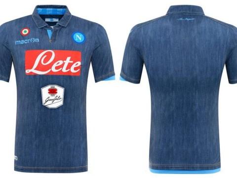 Napoli unveil fantastically rubbish new denim away shirt