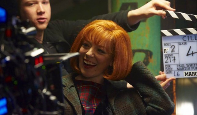 EDITORIAL USE ONLY / NO MERCHANDISING.. Mandatory Credit: Photo by ITV/REX (3659752b).. Sheridan Smith as Cilla Black.. 'Cilla' TV Programme, Behind the scenes, on set filming, Liverpool, Britain - 16 Mar 2014.. ..