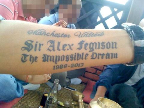 Manchester United fan suffers tattoo fail as 'Sir Alex Feguson' gets engraved on arm
