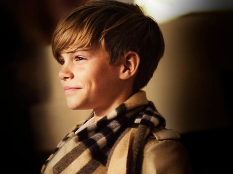 Just Romeo Beckham making you incredibly broody in the new Burberry Christmas campaign