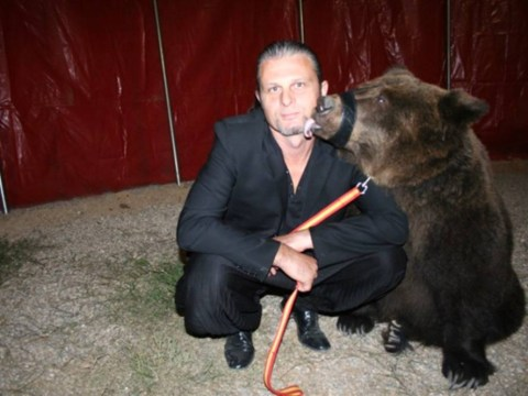 Boozy bear owner hits back at critics after leaving animal in the rain to get drunk