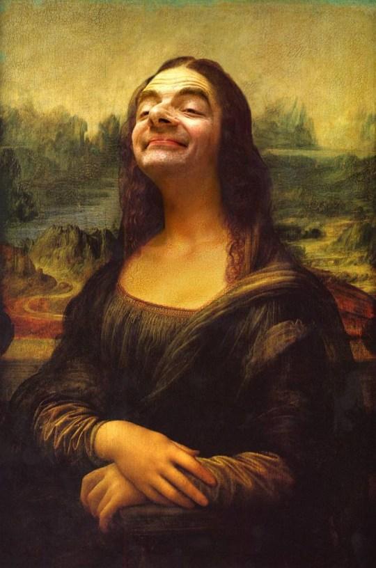 Mr Bean as the Mona Lisa