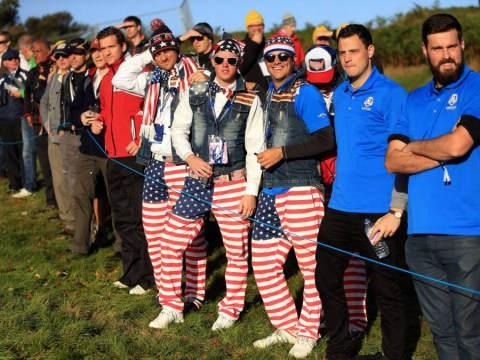 Tartan caps, stars-and-stripes kilts and blue afro wigs – the best shots from the start of the Ryder Cup