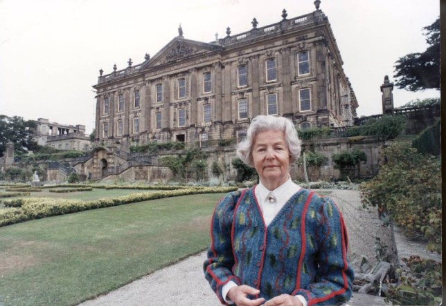 Mandatory Credit: Photo by Denis Jones/Evening Standard /REX (1035902a).. Dowager Duchess Of Devonshire Nee Deborah Mitford. .. Dowager Duchess Of Devonshire Nee Deborah Mitford... ..