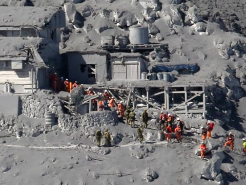 Volcanic eruption covers mountain with ash killing 31 people