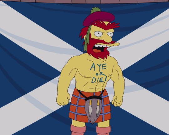 Where's your tattoo, Mr Salmond? (Picture: The Simpsons / Fox TV)