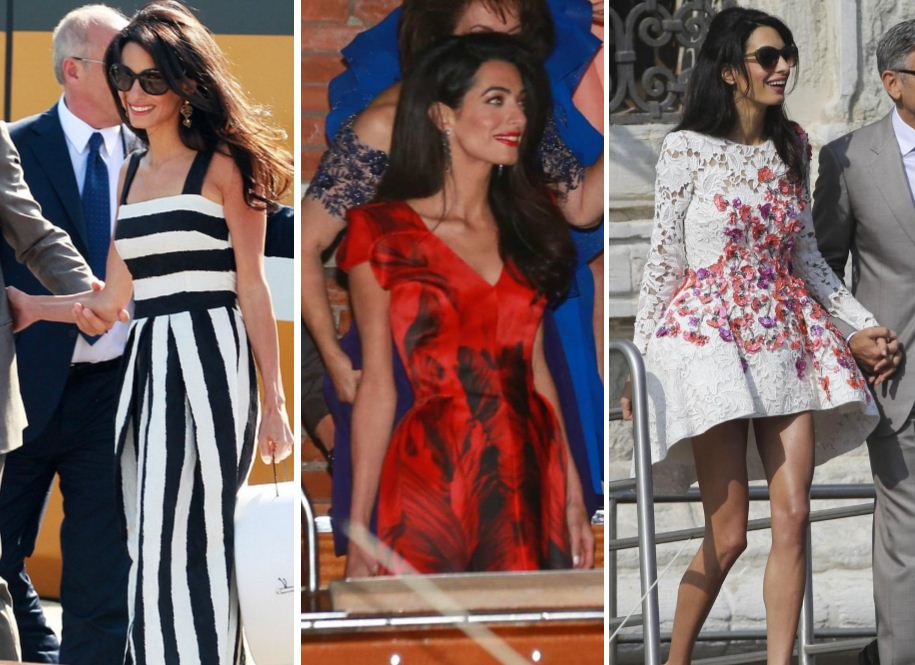 Amal Alamuddin, aka Mrs Clooney, and her amazing wedding wardrobe has us itching to see what THAT wedding dress looks like