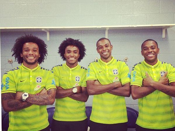 Brazilian quartet of Marcelo, Willian, Fernandinho and Robinho could be referee Andre Marriner's worst nightmare