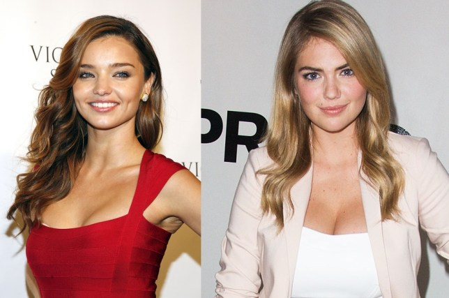 At a whopping 31 years old, Miranda Kerr is past it apparently, while at 22, Kate Upton is in the bracket men find most attractive (Picture: Getty Images)