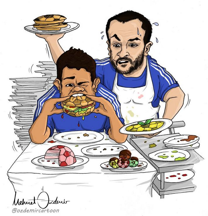 This cartoon perfectly sums up Cesc Fabregas and Diego Costa's relationship at Chelsea